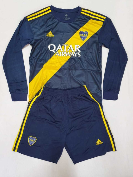 Uniforme Boca Juniors Manga Larga