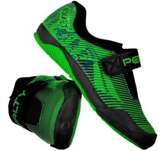 Tenis Penalty Futsal K Atf Rocket 02/2020 116176 Preto/verde