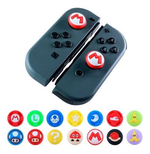 Imagen 1 de 8 de 2 Gomas Mario Bros Control Joystick Switch Thumb Protector