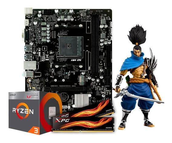 Kit Gamer Amd Ryzen 3 2200g + B350 + 16gb 2666mhz