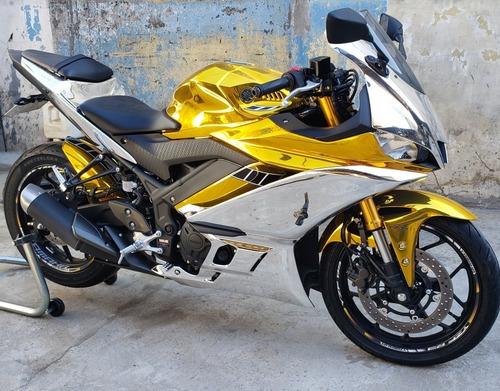 Yamaha R3 Abs 2020 Chromo E Gold Unica No Mundo.