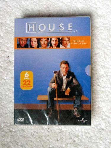 Dvd Box House / Primeira Temporada / 6 Dvds Original Lacrado