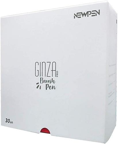 Caneta Pincel Brush Pen Ginza Newpen Com 30 Cores