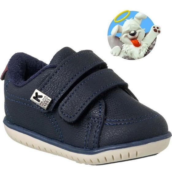 Sapato Klin Infantil Menino Marrom Tenis Pelucia