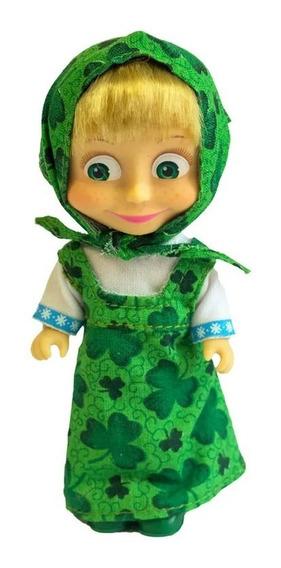 Boneca Masha E O Urso Masha Clássica Verde 13 Cm Sunny