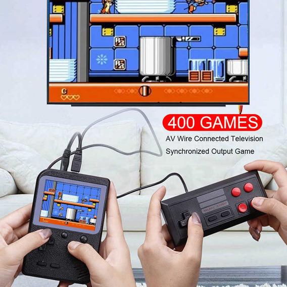 Mini Game Portátil Infantil C/ 400 Jogos Anos 80-90 Controle