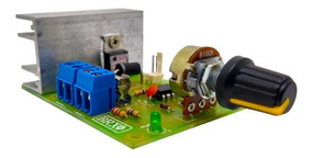 Controlador Pwm 10 Amperes Com Fusível De Proteção