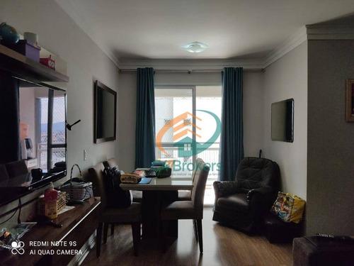 Apartamento Com 3 Dormitórios À Venda, 73 M² Por R$ 480.000,00 - Vila Flórida - Guarulhos/sp - Ap2973
