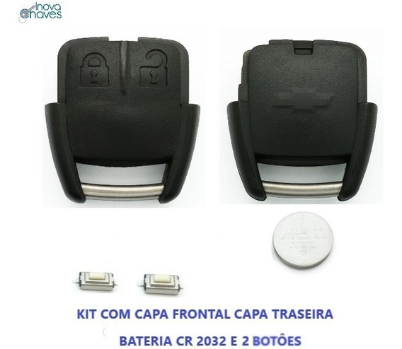 Kit Capa Chave Agile Corsa Celta Montana C/ Bateria E Botões