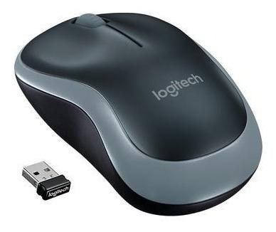 Mouse Logitech M185 Cinza Sem Fio