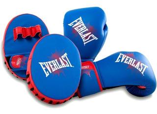 Kit Boxeo Infantil Chicos Everlast Guantes Focos Adaptable