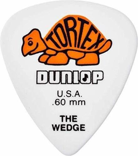 Imagen 1 de 5 de Dunlop 424r.60 Cuña De Tortex, Blanco / Naranja, .60 Mm, 72