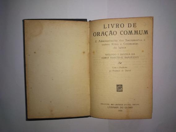 Livro De Oração Commum - Igreja Espiscopal - Antigo De 1930