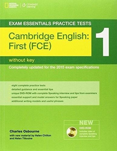 Cambridge English: First (fce) 1 Without Key W/dvd - Osbourn