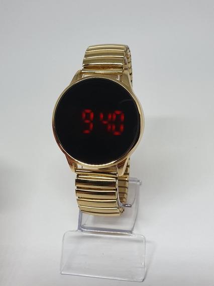 10 Relógios Touch Screnn Redondo 10 Pçs Atacado Revenda