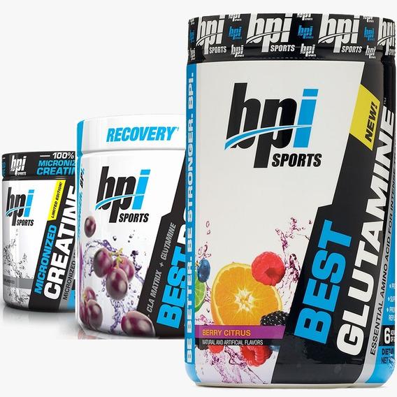 Combo Aminoacidos Bcaa + Glutamina + Creatina Bpi Sports