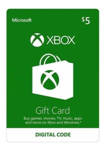 Gift Card - Vale Presente Xbox | 5 Reais | Envio Imediato