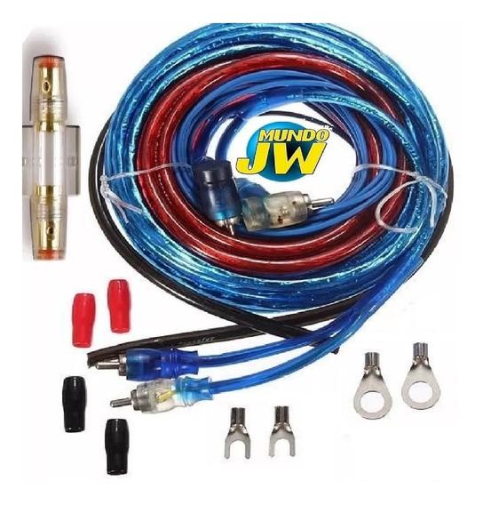 Kit De Cables Potencias Hasta 2500w 800wrms P/ Boss Taramps