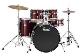 Bateria Acustica Pearl Roadshow Rs505 C91 5pc Red Wine
