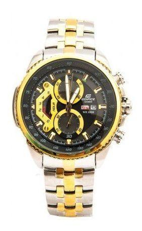 Relógio Casio Edifice - Prata E Dourado