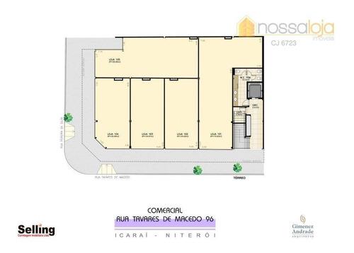 Imagem 1 de 3 de Loja Comercial Para Locação, Icaraí, Niterói. - Lo0059