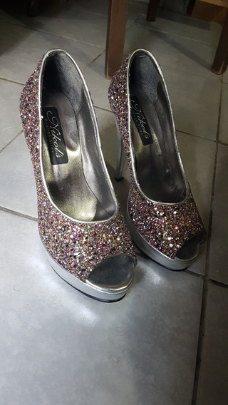 Zapatos De Fiesta Con Glitter