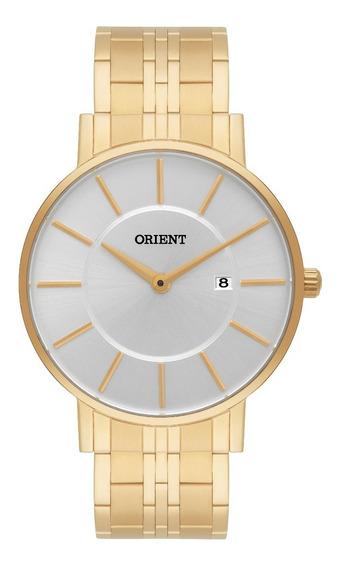 Relógio Orient Masculino Slim Mgss1091 S1kx Dourado
