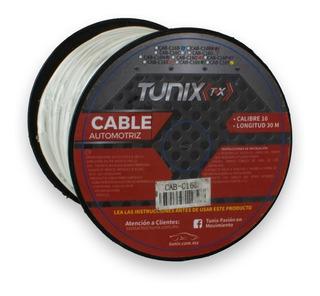 Rollo 30m Cable Audio Para Bocina Calibre 16 Varios Colores