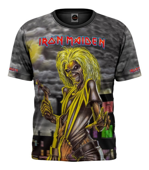 Camiseta Iron Maiden Killers Other Side Camisa Estampa Total