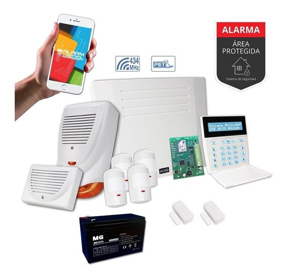 Alarma Para Casa O Comercio+ Wifi+sensor Inalambrico