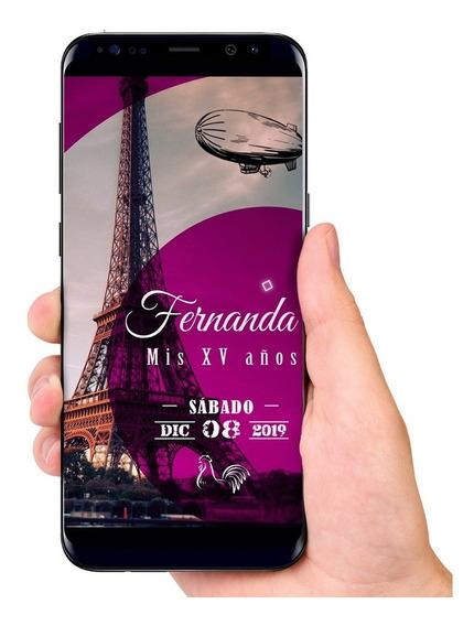 Invitaciones Xv Paris Invitaciones Y Tarjetas En Mercado