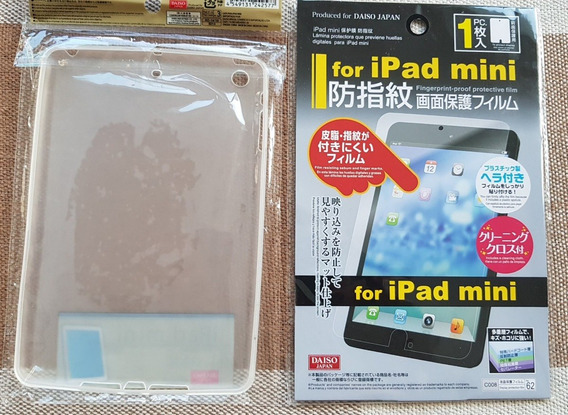 Case Silicone Tpu iPad Mini 3 Transparente + Película