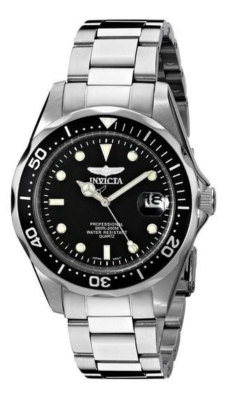 Reloj Invicta 8932 Colección Pro Diver Plateado/negro