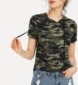Blusa Camuflaje Militar Con Capucha Blusas Dama Ropa Mujer