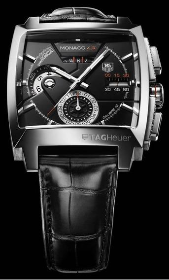 Relógio Masculino Mônaco Black Ls C. 12 Automático Funcional