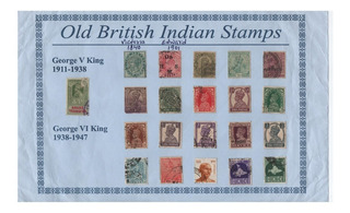 India Colonia Británica. Sellos Antiguos.