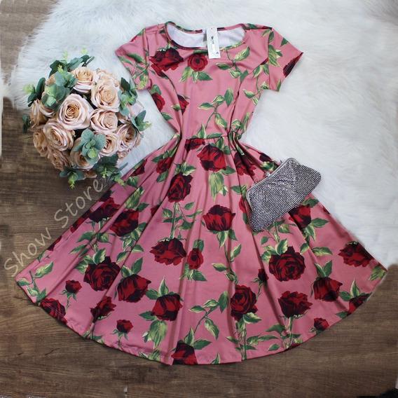 Roupas Femininas Vestido Midi Estilo Bonequinha Princesa 709
