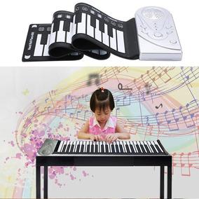 Piano Flexivel Teclado Digital 49 Teclas Midi Pedal Sustain