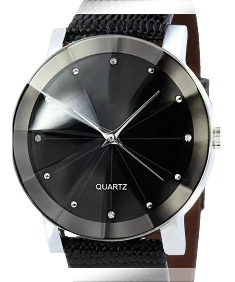 Relógio Casual Masculino Pulseira De Couro Quartz