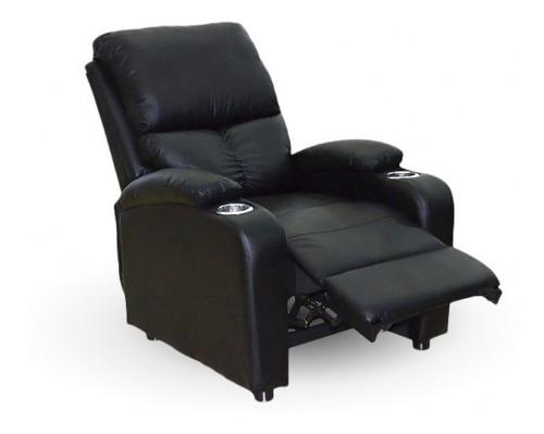 Sofa Reclinable De Cuero Alto Confort