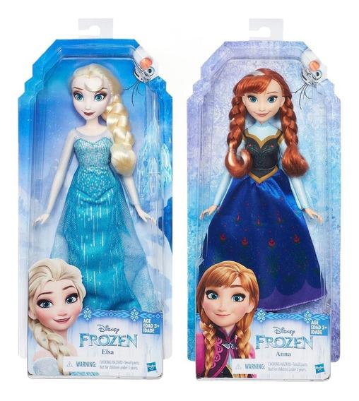 Pack Boneca Anna + Boneca Elsa Venstidos Classicos - Hasbro