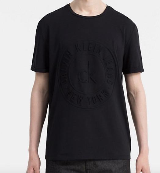 Playera Casual Para Caballero Calvin Klein Logo 3d Talla L 1,299$