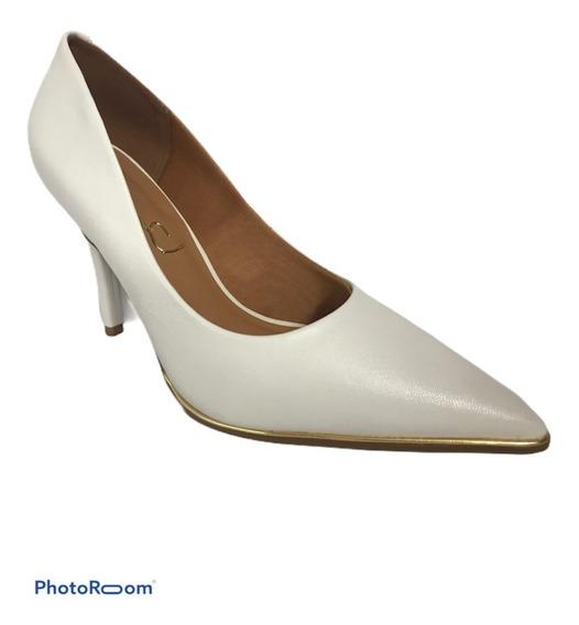 Zapato Mujer Stilletto De Vestir Taco Fino M. Chiesa Natural