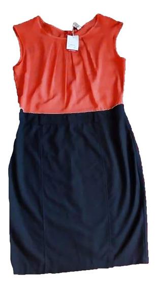 Vestido Para Dama Talla L Marrón Yladrillo Nuevo C/etiqueta.