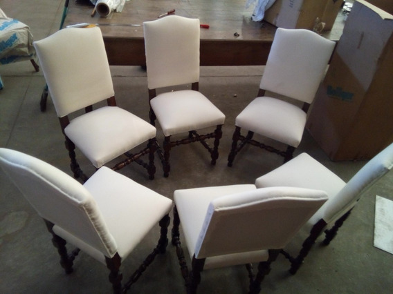 06 Cadeiras Classicas Sala Jantar Antigas Raras Estado Novas