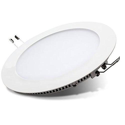 Imagen 1 de 10 de Panel Led 18w Embutir Plafon Blanco Circular Redondo