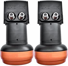 2 Unidades - Lnb Duplo Universal Banda Ku Digital Hd