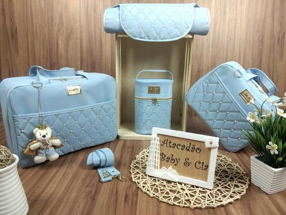 Bolsas De Bebe Para Saida Maternidade Kit 4 Peças Luxo...
