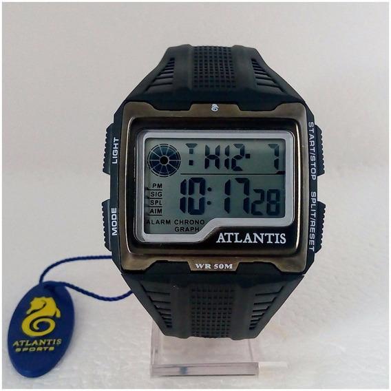Relógio Masculino Atlantis Digital Quadrado Original Prova Dágua 12x Sem Juros Frete Gratis