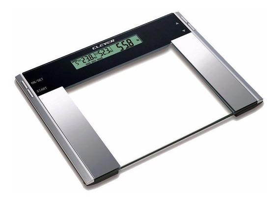 Balanza Peso Digital De Baño 200kg Clever %grasa %muscular